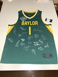 2020-2021 Baylor Bears Team Autographed Signed Basketball Jersey National Champs