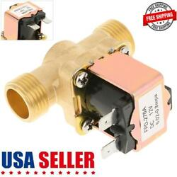 12v 300ma Electric Solenoid Valve Switch Water Air 1/2 Brass Normally Closed