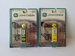 Lot Of 2 John Deere 1950's Style Gas Pumps Diecast Collectibles - Gear Box Toys
