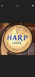Harp Lager Outdoor Sign Lit With Bracket
