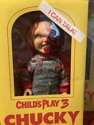 Mezco Childs Play 3 Talking Pizza Face Chucky Doll Action Figure