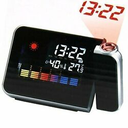 YXGOOD LED Backlight Color Display wDigital Projection Weather LCD Snooze Alarm