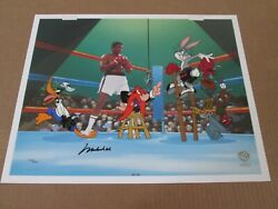 Muhammad Ali Signed Warner Bros. Empty That Glove Bugs Bunny Cel Sold-out