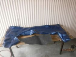 New Blem 1966-1967 Gm A-body Convertible Top Boot Blue Chevelle Gto 442 Gs Ss