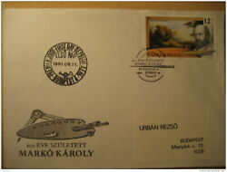 Marko Károly Painting Budapest 1991 Fdc Cover Hungary