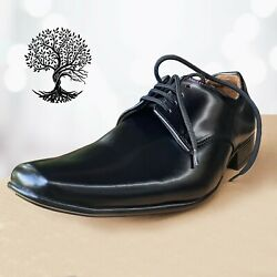 Mens Italian Smart Shoes Formal Wedding Office Handmade Pure Leather Shoes Size