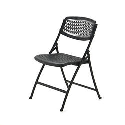 Black Folding Chairs Fold Up Ventilated Plastic Seat 4 Or 40 Pack Mity Lite Flex