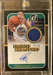 Stephen Curry 2014-15 Donruss Timeless Treasures Patch Autograph Card 24/99