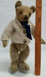 Antique Very Early 1920s Chad Valley Teddy Bear From English Museum Vintage 12in