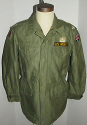 Vintage 1953 Us Army M-1951/m-51 Korean War Field Jacket Patches Nice Shape S
