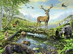 Ravensburger 82056 Great Outdoors Puzzle Series Woodland Wildlife   300 Pc...