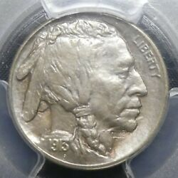 1913 S Type-1 5c Buffalo Nickel Five Cents Certified Pcgs Ms64 Us Mint Coin