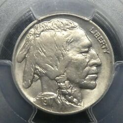 1917 D 5c Buffalo Nickel Five Cents Certified Pcgs Au55 Us Mint Coin