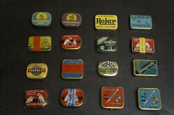 Lot Of 16 New Old Stock Original Filled Needles Tins With Needles For Gramophone