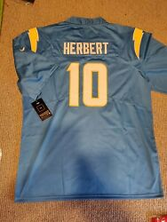 Nwt Nike Los Angeles Chargers Justin Herbert Powder Blue Home Jersey M 🔥