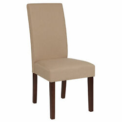 Greenwich Series Parsons Chair With Mahogany Legs