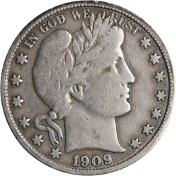 1909-s Barber Half Dollar Great Deals From The Executive Coin Company
