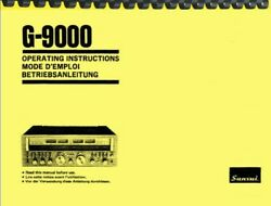 Sansui G-9000 Receiver Ownerand039s Manual And Service Manual