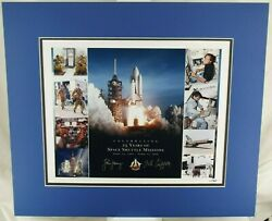 Sts-1 John Young Bob Crippen Limited 1/50 Signed Color Photograph Authenticated