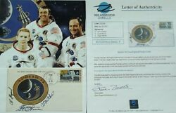 Apollo 14 Crew Signed Insurance Cover Shepard, Roosa And Mitchell Authenticated