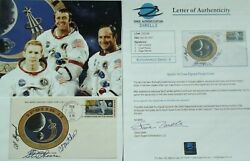 Apollo 14 Crew Signed Insurance Cover Shepard Roosa And Mitchell Authenticated