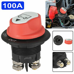 100a Battery Isolator Switch Disconnect Power Cut Off Kill For Car Marine Boat