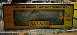 Lot 4-40 Mth Rail King Item 30-7419, Great Northern Rounded Roof Box Car W/box