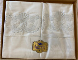 1948 Vintage Pillowcases - A Bedtime Story By Dlc Embroidered Pillow Cases Nwt