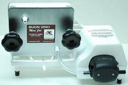 Buon Vino Mini Jet Electric Wine Filter With 2 Sets Of 2 Filter Pads