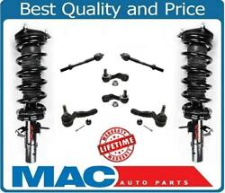 Front Complete Spring Strut Assembly Tie Rds Ball Joints For 04-06 G35 4door Awd