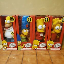 Vintage Simpson 25 Years Collectable Dolls With Sound. Set Of 4.