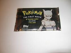 Pokemon The First Movie Topps 8 Trading Cards -by Nintendo -1 Foil Per Pack