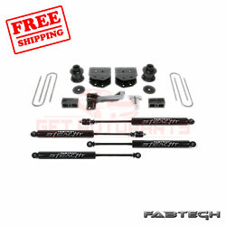 Fabtech 4 Budget System W/ Stealth Shocks For Ford F250 4wd 2008-16