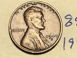 1940-s Lincoln Wheat Cent Penny 8939k