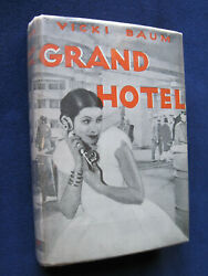 Grand Hotel - Signed By Vicki Baum To Mgmand039s Sam Marx - 1st American Ed In Jacket