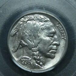 1936 5c Buffalo Nickel Five Cents Certified Pcgs Ms66 Us Mint Coin
