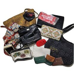 Lot of Mixed Vintage Womens Multicolor Bags Purse Wallets Clutches All Sizes GUC $54.99