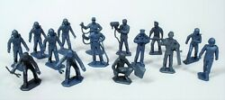 15 Nrmt 1960's Marx Cape Canaveral Air Force Ground Crew Playset 45mm Figures