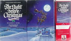Vintage Hallmark Pop-up The Night Before Christmas Moore New Sealed