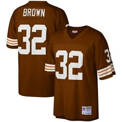 Cleveland Browns Jim Brown 32 Mitchell And Ness Brown 1963 Retired Player Jersey