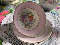 Vintage Clarence English Bone China Cup And Saucer