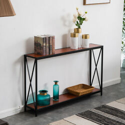 Classical Wood Console Table Sofa Accent W/shelf Stand Entryway Hall Furniture