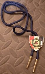 Vintage Bsa Boy Scouts Schiff Scout Reservation String Tie With Slide