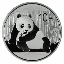 2015 China 1 oz Silver Panda 10 Coin GEM BU Original Mint Capsule $47.41