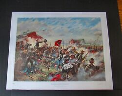 Don Troiani - The Barksdale Charge - Mint - Hand Signed - Civil War Print - Mint
