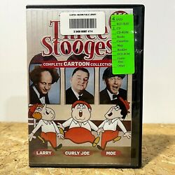 The New Three 3 Stooges Complete Cartoon Collection 4 Dvd 1 Cd Ex Lib Free Ship