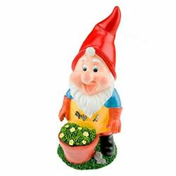 Garden Gnome Figurine Polyresin Statue For Lawn Ornaments Indoor Or Outdoor D...