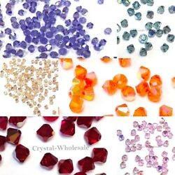 5301 4mm Crystal Bicone Beads Factory Pack 1440 Color Ab Discontinued