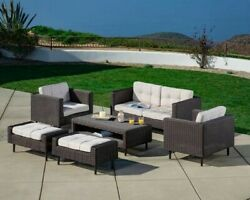 Tampa 6 Piece Patio Furniture Set From Ae Outdoor--brand New