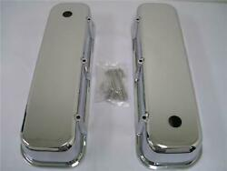 1965-1995 Big Block Chevy Polished Aluminum Smooth Tall Valve Covers Bbc 396 454